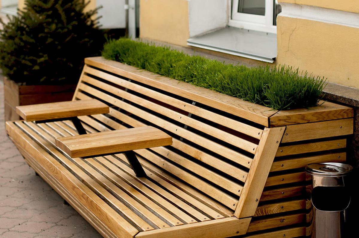 possibilités de design pour mobilier urbain